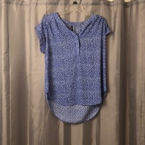 Blue chevron top